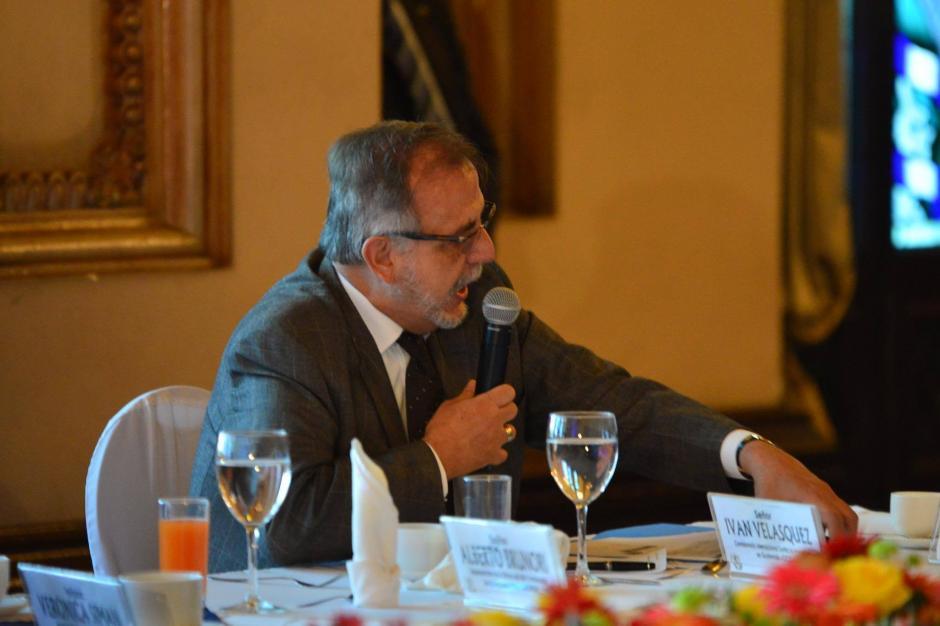 El Comisionado de CICIG, forma parte de la mesa de Diálogo Nacional que buscan reformas al sector justicia. (Foto: Jesús Alfonso/Soy502)