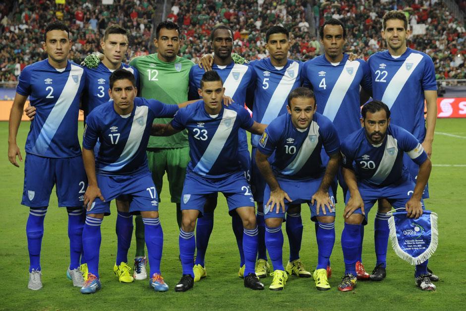 El cuadro titular guatemalteco ante México