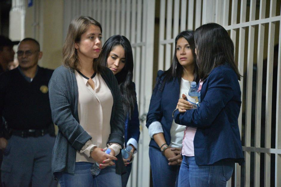 Las cuatro mujeres son sindicadas en un caso de despojo de 28 fincas. (Foto: Wilder López/Soy502)