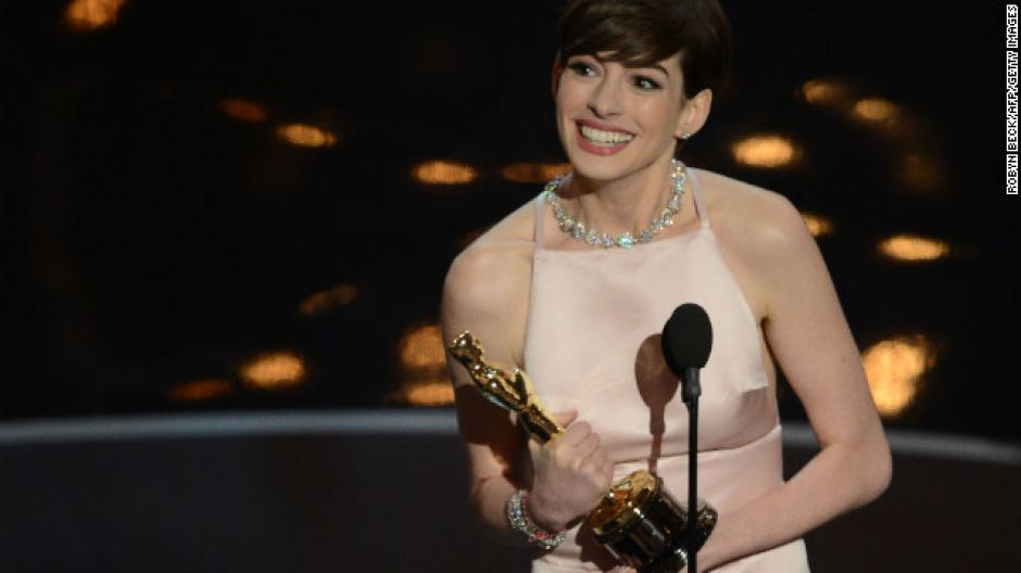 """La actrizAnne Hathaway ganó un Óscar en 2013 como mejor actriz de reparto en la película """"Los Miserables"""". (Foto: Internet)"""