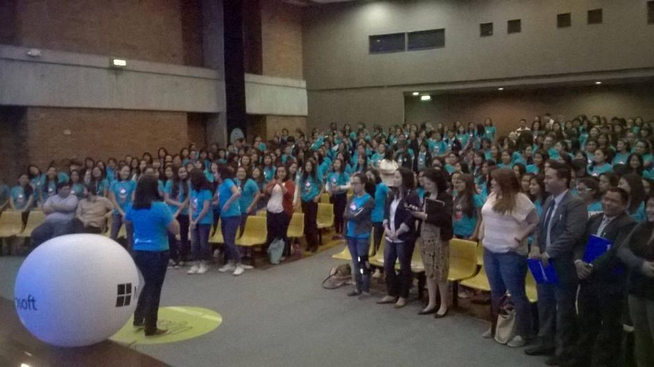 Más de 300 niñas participaron del evento Digigirlz. (Foto: Fredy Hernández/Soy502)