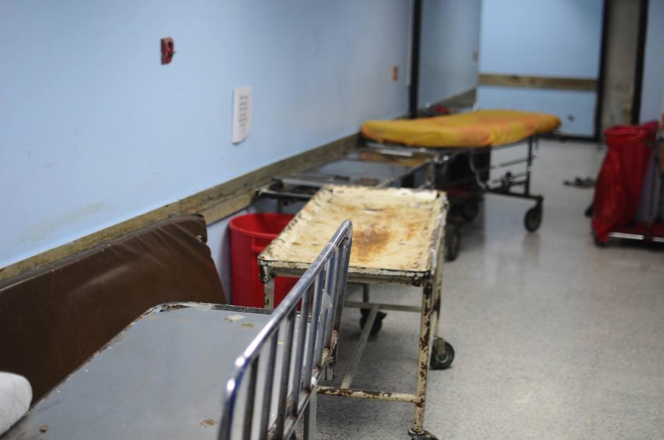 Estas son las camillas que se utilizan en el hospital San Juan de Dios. (Foto: Soy502)