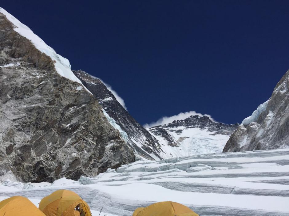 Así se ve desde el campamento en una zona del Monte Everest. (Foto: Facebook/Bárbara Padilla)