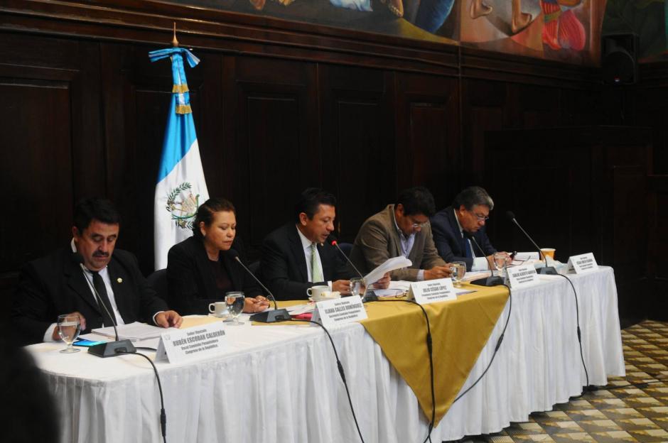 La Comisión Pesquisidora es la encargada de evaluar si le retiran la inmunidad al magistrado Charchal. (Foto: Alejandro Balán/Soy502)