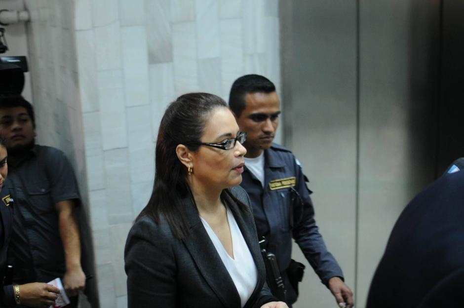 Roxana Baldetti ha evitado dar declaraciones a la prensa. (Foto: Alejandro Balán/Soy502)