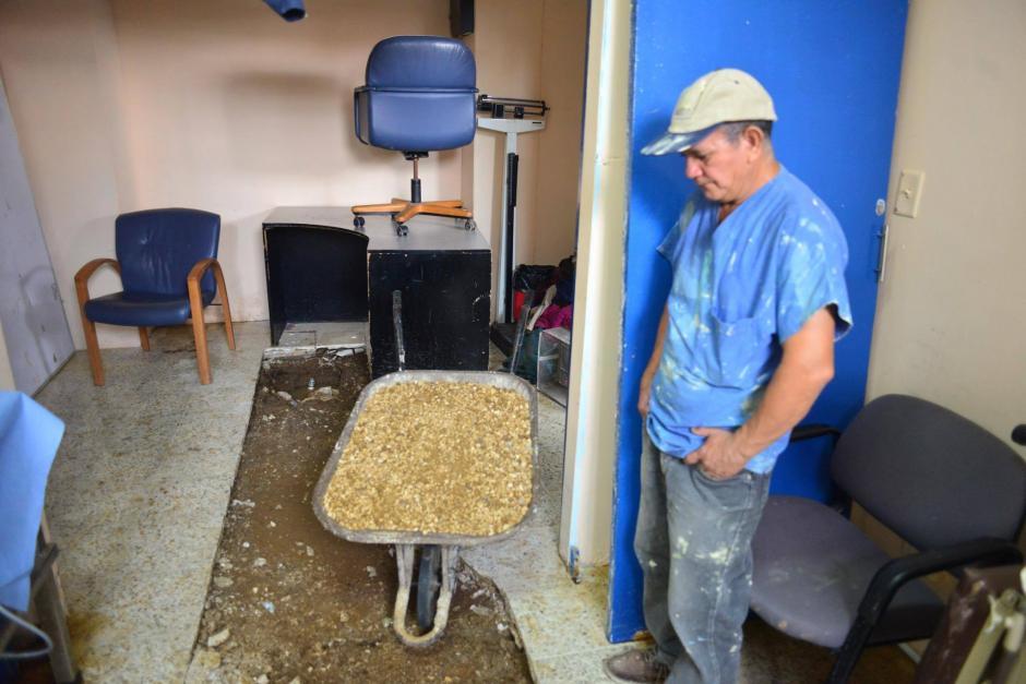 Los trabajos de reparación ya iniciaron. (Foto: Jesús Alfonso/Soy502)