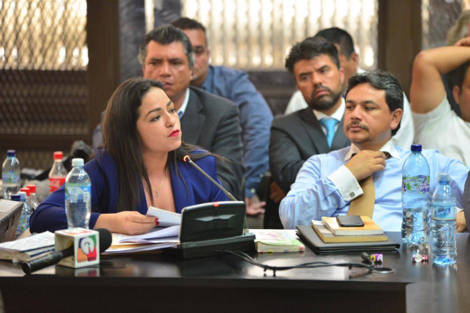 Barbara Rosas, expuso su defensa en aproximadamente 45 minutos (Foto: Jesús Alfonso/Soy502)