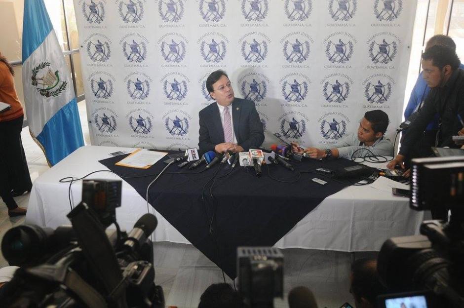El Ministerio Público ya había solicitado un antejuicio en contra del magistrado Aguilar.  (Foto: Alejandro Balán/ Soy502)