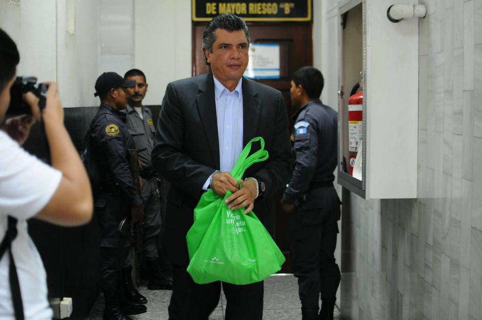 Gustavo Martínez, ex secretario privado de Otto Pérez, también figura como sindicado. (Foto: Alejandro Balán/Soy502)