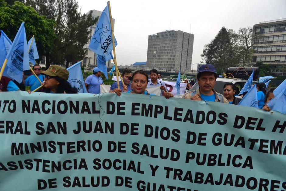 Los manifestantes realizan la manifestación ante varias inconformidades. (Foto: Jesús Alfonso/Soy502)