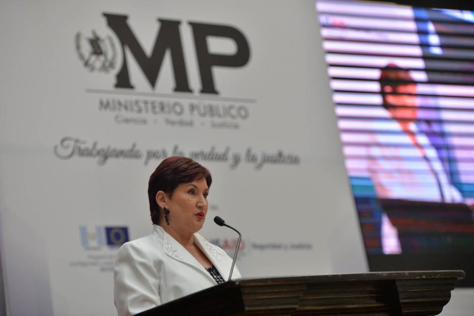 La Fiscal General fue la encargada de presentar su segundo informe de labores. (Foto: Wilder López/Soy502)