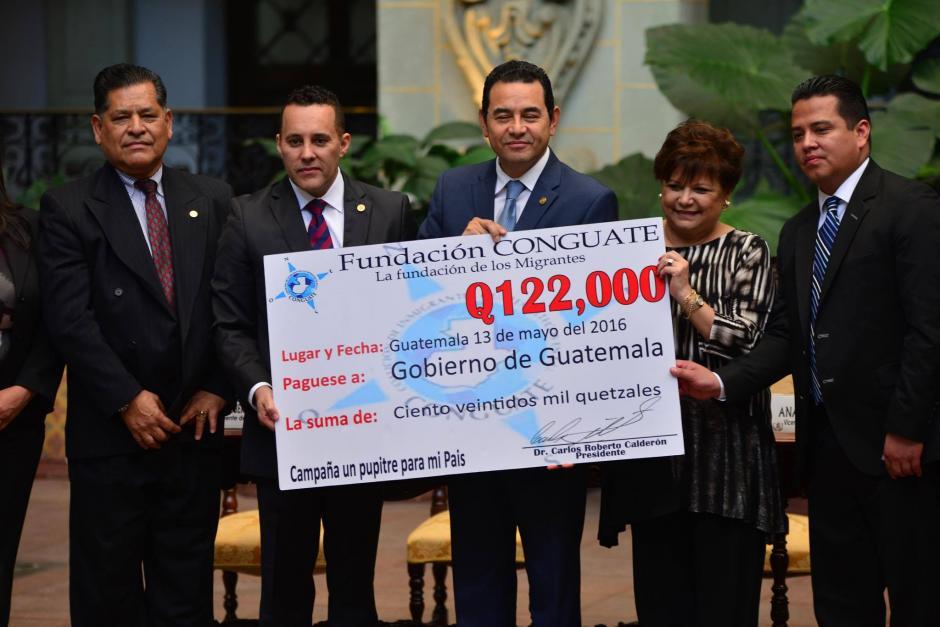 El dinero donado por Conguate será entregado al ministerio de la Defensa. (Foto: Jesús Alfonso/Soy502)