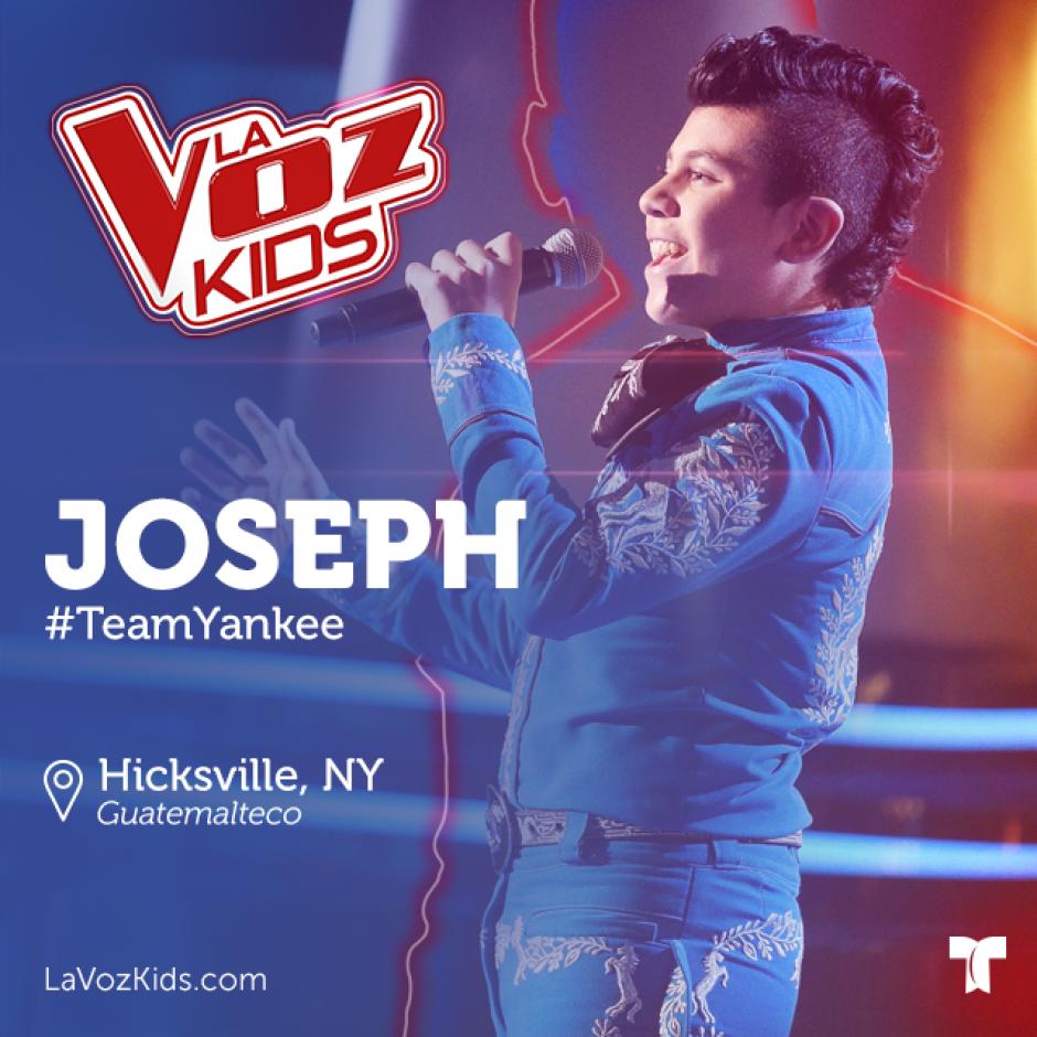 Joseph se une a Jossué Girón de padres guatemaltecos y a otros 43 niños que buscarán ganar este concurso de talentos. (Foto: La Voz Kids Telemundo)