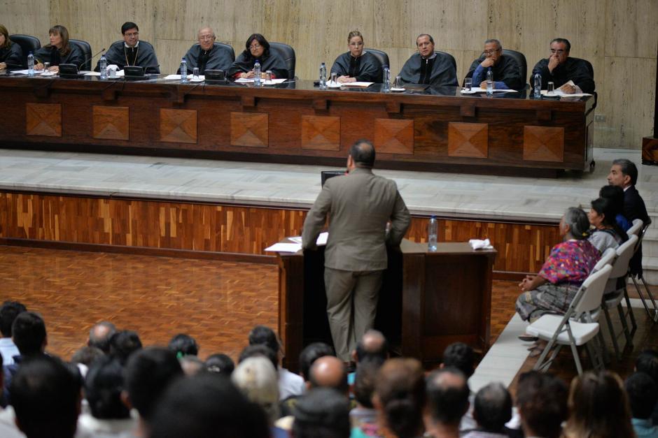 Los abogados que representan a las comunidades pidieron el cese de operaciones. (Foto: Wilder López/Soy502)