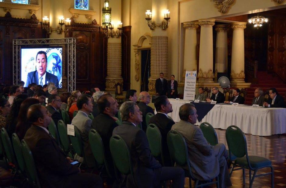 El ministro de Salud Alfonso Cabrera, da una mensaje a la población sobre la reforma. (Foto: Ministerio de Salud)