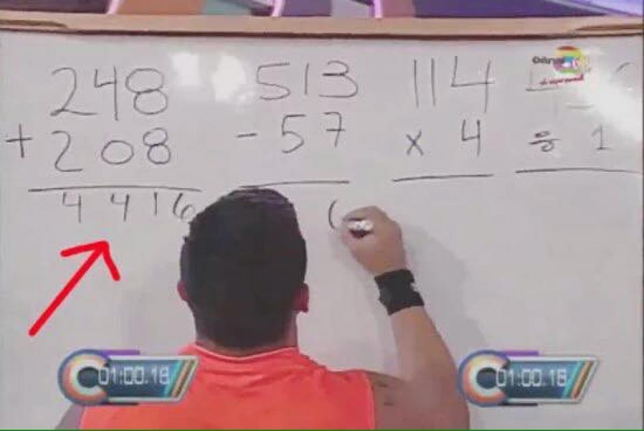 """Usuarios de redes señalaron las deficiencias en la prueba """"aritmética extrema"""" del programa Combate. (Foto: FB Combate Guatemala)"""