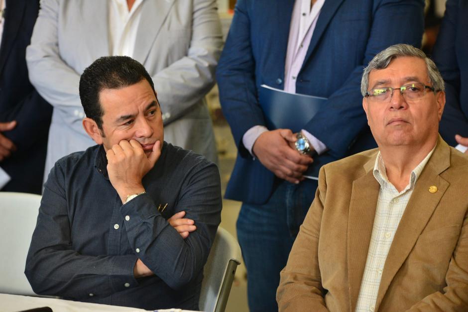 Morales desmintió los rumores que indicaban que él y el vicepresidente estaban peleados. (Foto: Archivo/Soy502)