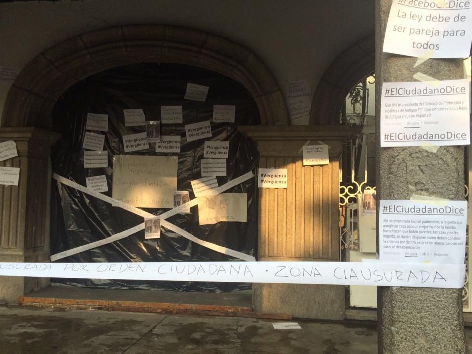 El rechazo se hizo notorio la mañana de este miércoles. (Foto: Colectivo de Jóvenes de Guatemala)