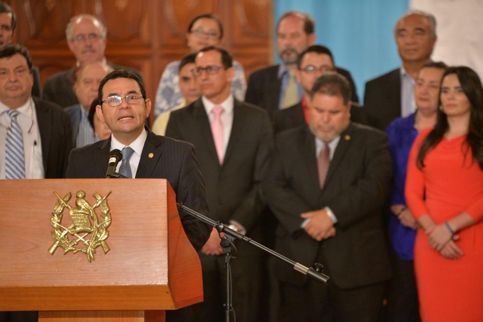 El presidente Jimmy Morales sancionó las reformas electorales. (Foto: Wilder López/Soy502)