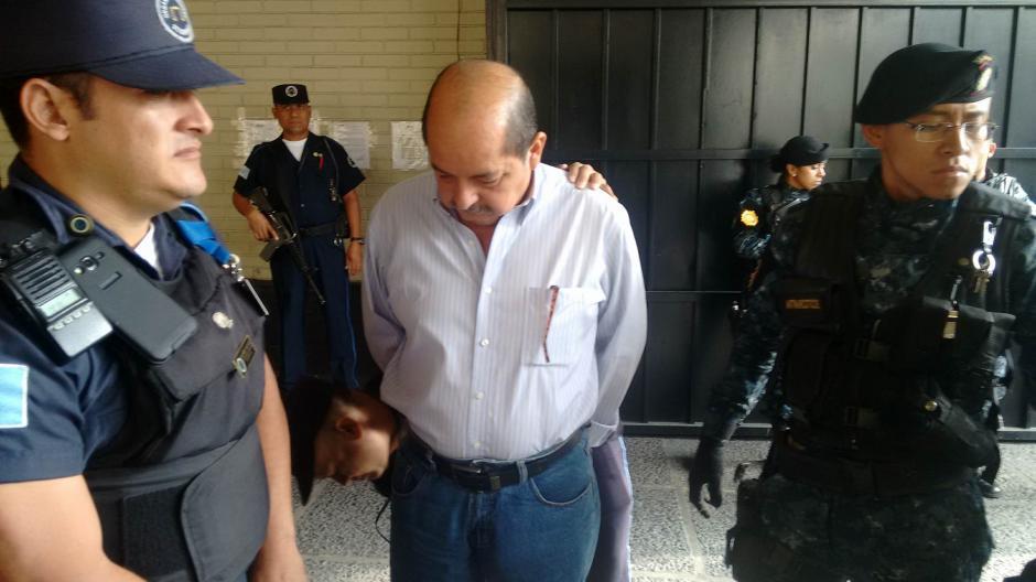 El exdiputado Alfredo Rabbé fue capturado y llevado a Torre de Tribunales. (Foto: Wilder López/Soy502)