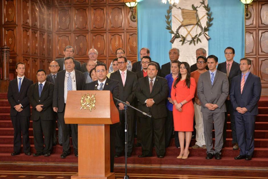 Académicos, universidades y sociedad civil respaldaron al Mandatario. (Foto: Wilder López/Soy502)