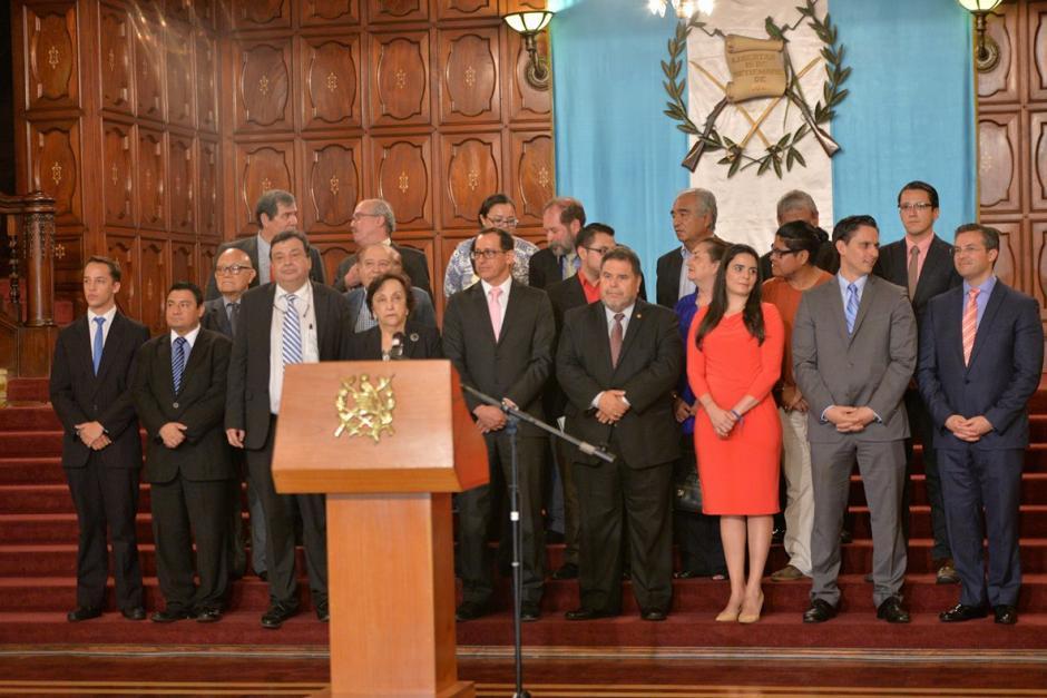 El anuncio lo ofreció en el Salón Banderas del Palacio Nacional de la Cultura. (Foto: Wilder López/Soy502)