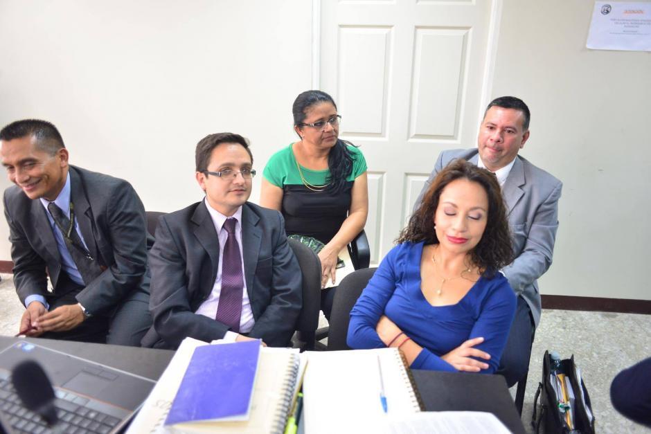 Fiscales, mandataria de CICIG, abogados de la Contraloría y PGN participaron en la audiencia. (Foto: Jesús Alfonso/Soy502)