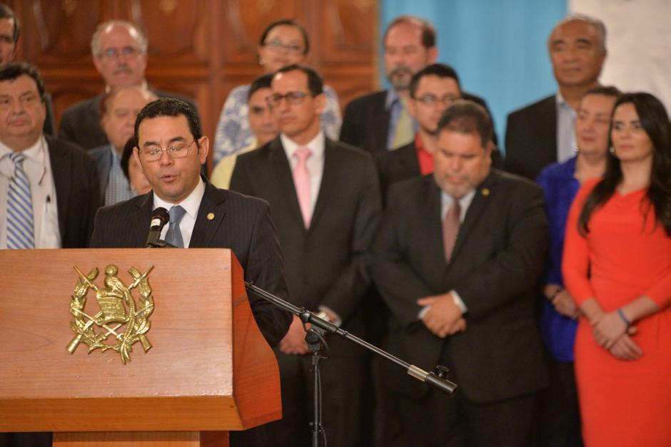 Jimmy Morales dijo que enviará una iniciativa de Ley al Congreso con otros cambios. (Foto: Wilder López/Soy502)