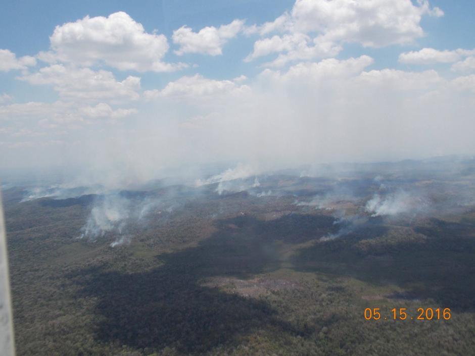 Según el Conap hasta la fecha se han registrado 116 incendios. (Foto: Cortesía de Matilde Ivic)