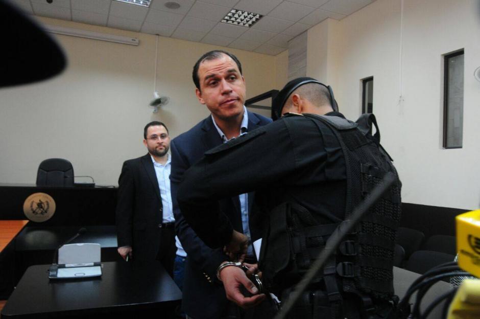 Pezzarossi fue detenido este viernes al presentarse al juzgado. (Foto: Alejandro Balan/Soy502)