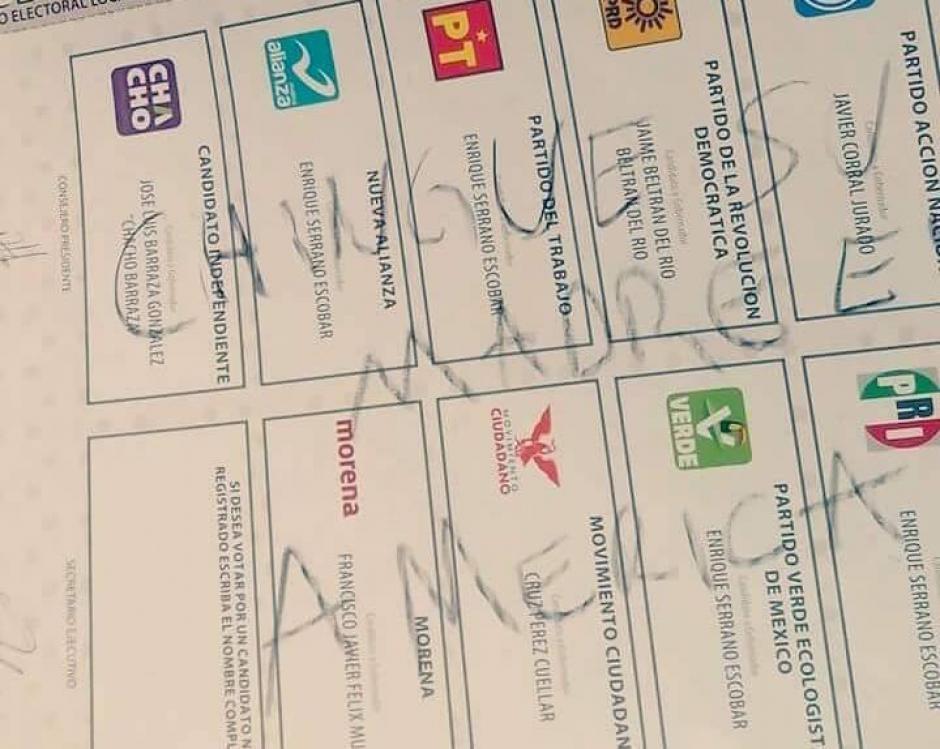 Por los distintos mensajes de los votantes fueron anuladas varias papeletas. (Foto: tiempo.com.mx)