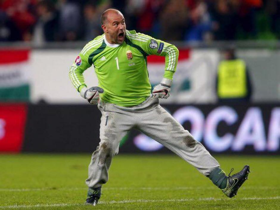 Gábor Király tiene 40 años y se convirtió en el jugador más longevo en la historia de la Euro. (Foto: Agencias)