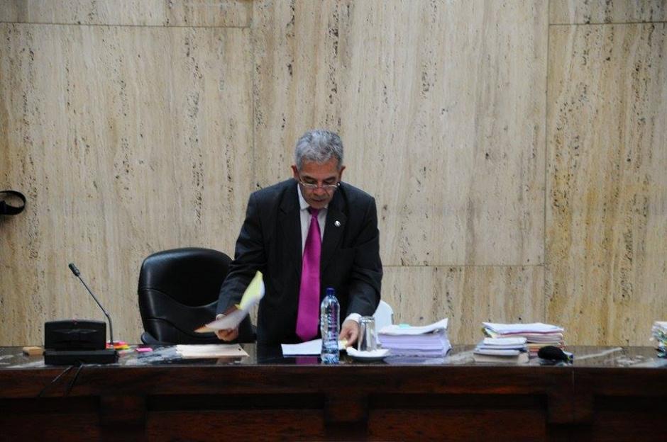 El Juez Miguel Ángel Gálvez durante el inicio del tercer día de audiencia de primera declaración. (Foto: Alejandro Balán/Soy502)