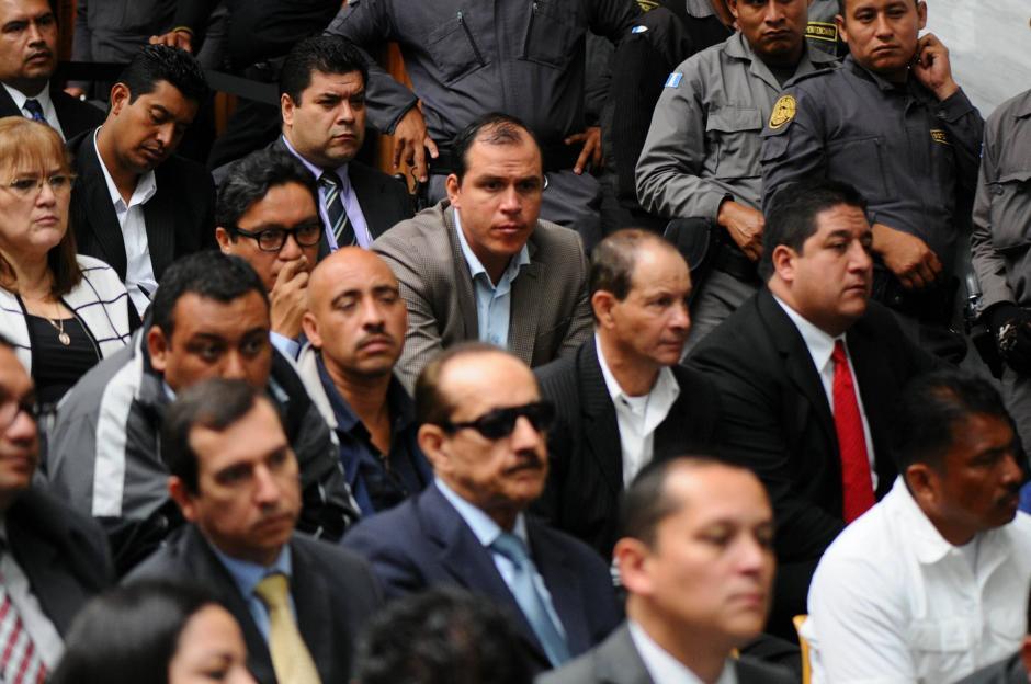 Los sindicados en el caso Cooptación del Estado durante la audiencia de primera declaración. (Foto: Alejandro Balán/Soy502)