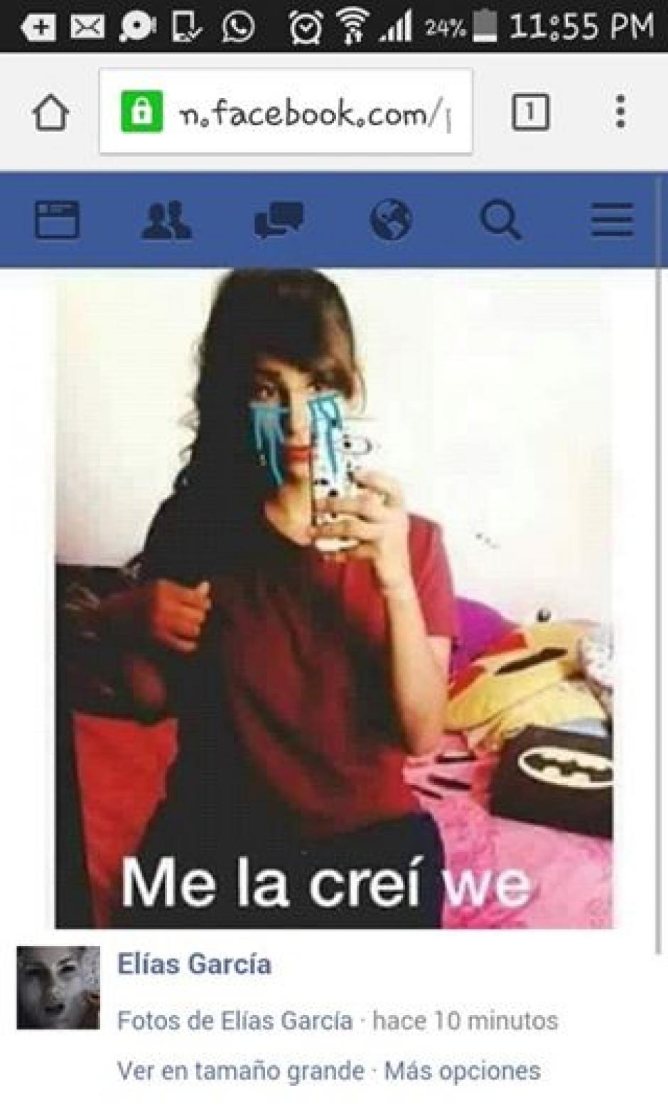 Una joven apareció y fingió ser la chica de la foto. (Imagen: sopitas.com)