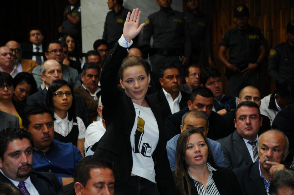 Daniela Beltranena se presenta durante el tercer día de audiencia de primera declaración por el caso Cooptación del Estado.  (Foto: Alejandro Balán/Soy502)