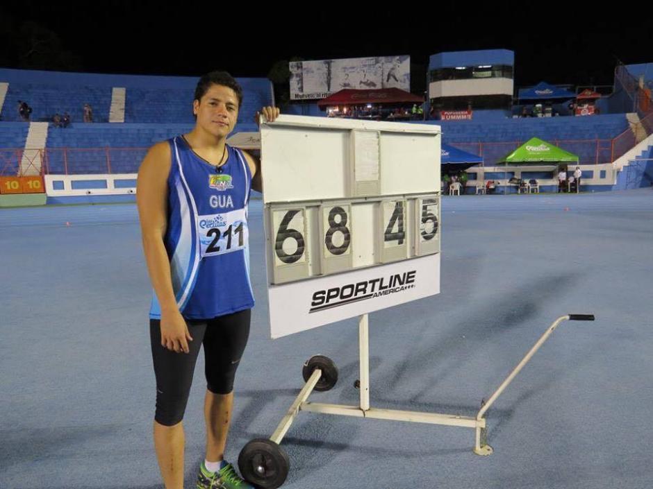 Luis Mario Taracena ganó el primer lugar en lanzamiento de jabalina. (Foto: Federación Nacional de Atletismo)