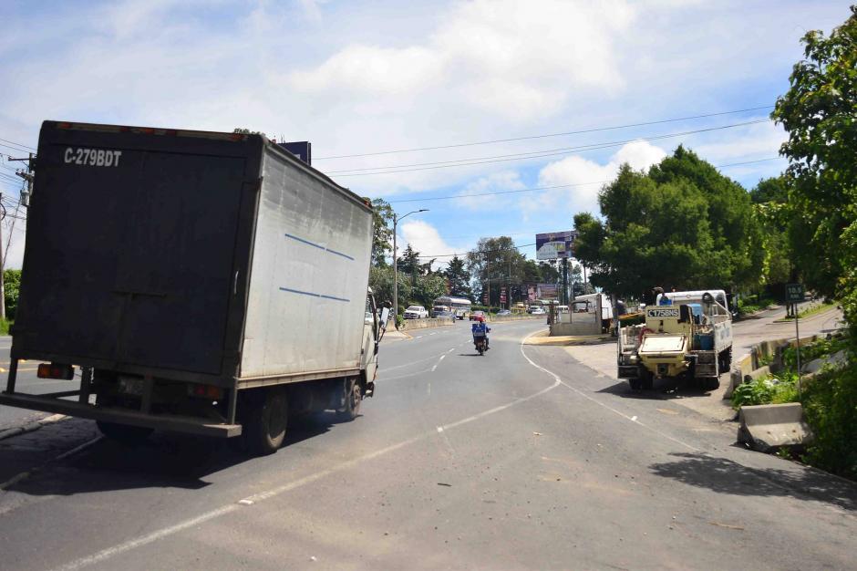 El desvío sobre la ruta continúa. (Foto: Jesús Alfonso/Soy502)