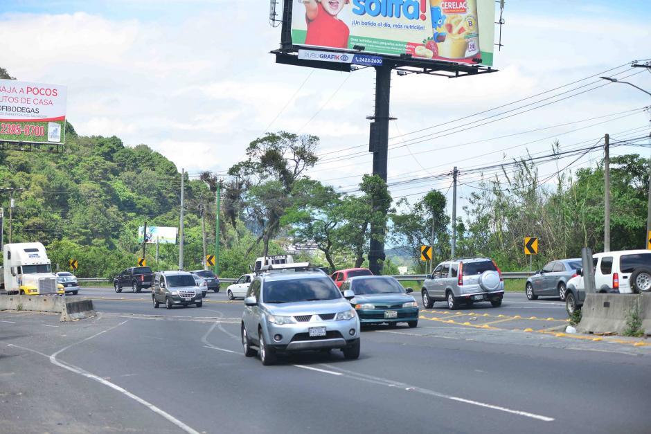 El desvío en la ruta era una solución temporal, pero a más de dos años no ha cambiado. (Foto: Jesús Alfonso/Soy502)
