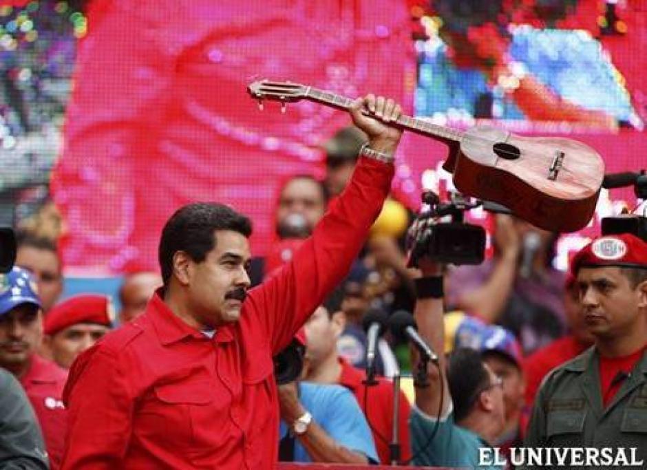 El Presidente Nicolás Maduro, asegura que Leopoldo López es el responsable de las protestas violentas. Foto:El Universal