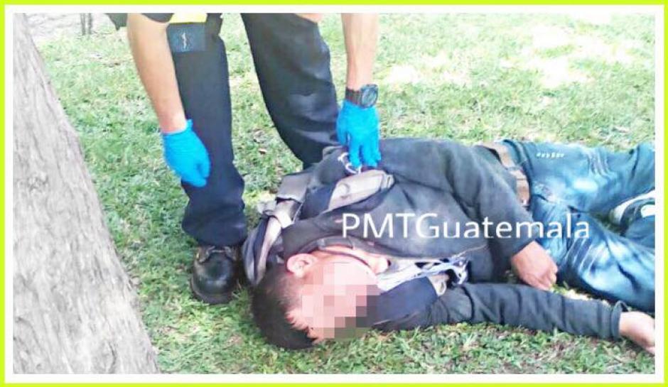 Durante la marcha de maestros se reportó el hallazgo de un participante de la manifestación intoxicado por alcohol. (Foto: PMT Guatemala)