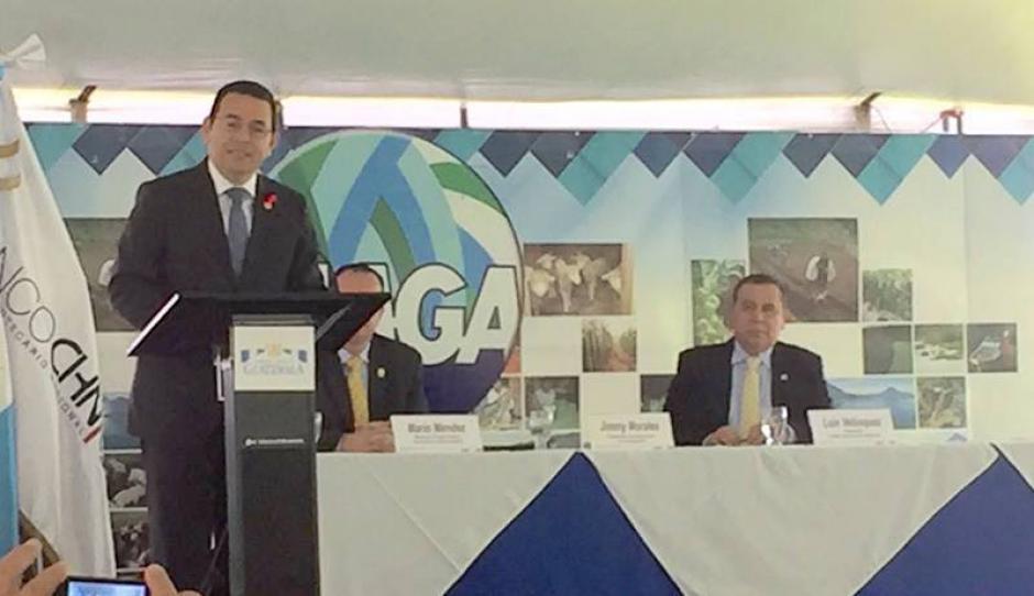El presidente Jimmy Morales impulsa esta iniciativa. (Foto: MAGA)
