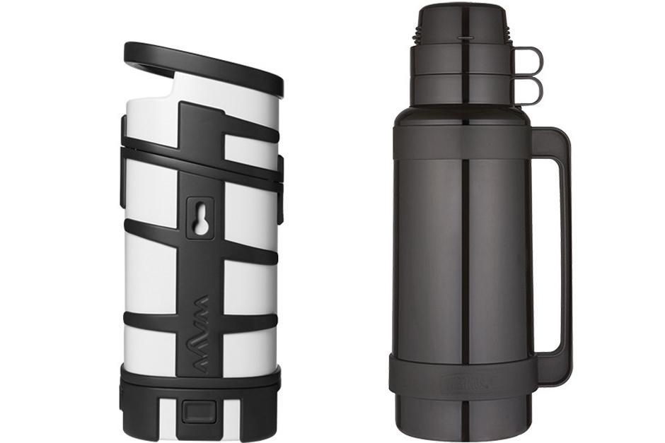 Un horno microondas con baterías incluidas es comparado con un thermo. (Foto: xakata.com)