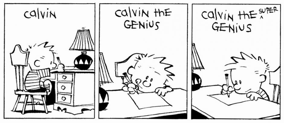 -Calvin -Calvin el Genio -Calvin el Súpergenio. (Foto: magnet.xataka.com)
