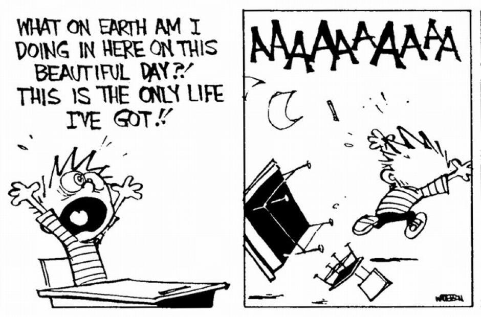 -¿Pero qué puñetas estoy haciendo aquí en este precioso día? La vida son dos días, AAAAAAAAAAAAAAAAAAAAAAH (Foto: magnet.xataka.com)