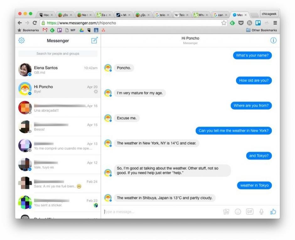 Aplicación de escritorio de la mensajería de Facebook (Foto: genbeta.com)