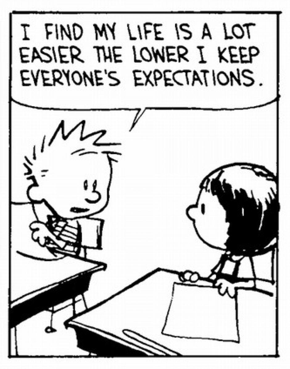 -Pienso que mi vida es mucho más fácil cuanto más bajas son las expectativas que tienen sobre mí. (Foto: magnet.xataka.com)