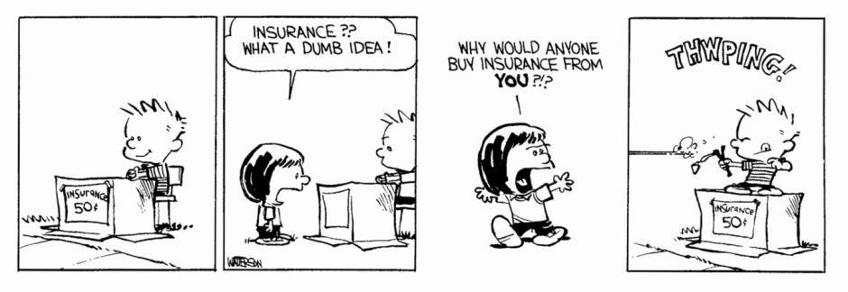 -¿Un seguro? Qué tontería. ¿Para qué iba a necesitar un seguro para ti? (Foto: magnet.xataka.com)
