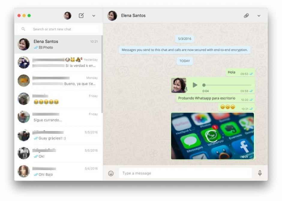 Aplicación de escritorio de Whatsapp (Foto: genbeta.com)