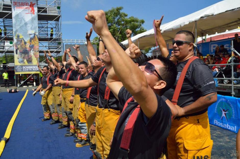 Los rescatistas centroamericanos demostraron sus habilidades para atender una emergencia. (Foto: Bomberos de Costa Rica)